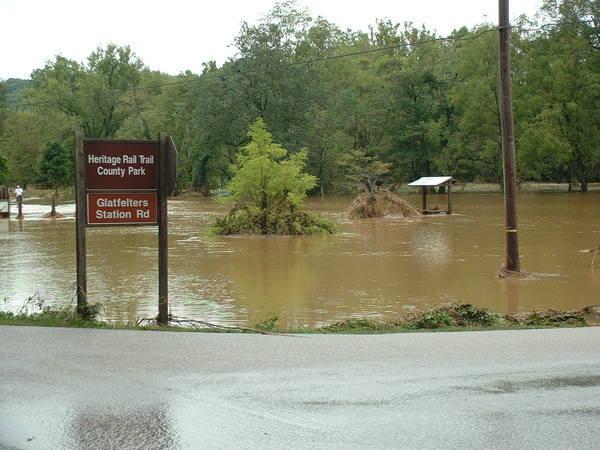Glatfelters Station Flood